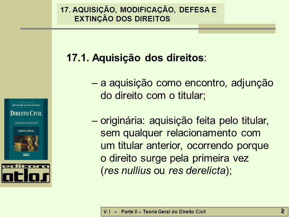 17.1. Aquisição dos direitos: