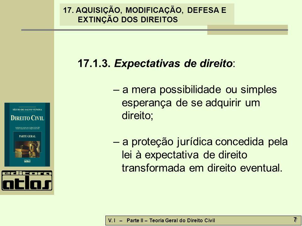 17.1.3. Expectativas de direito: