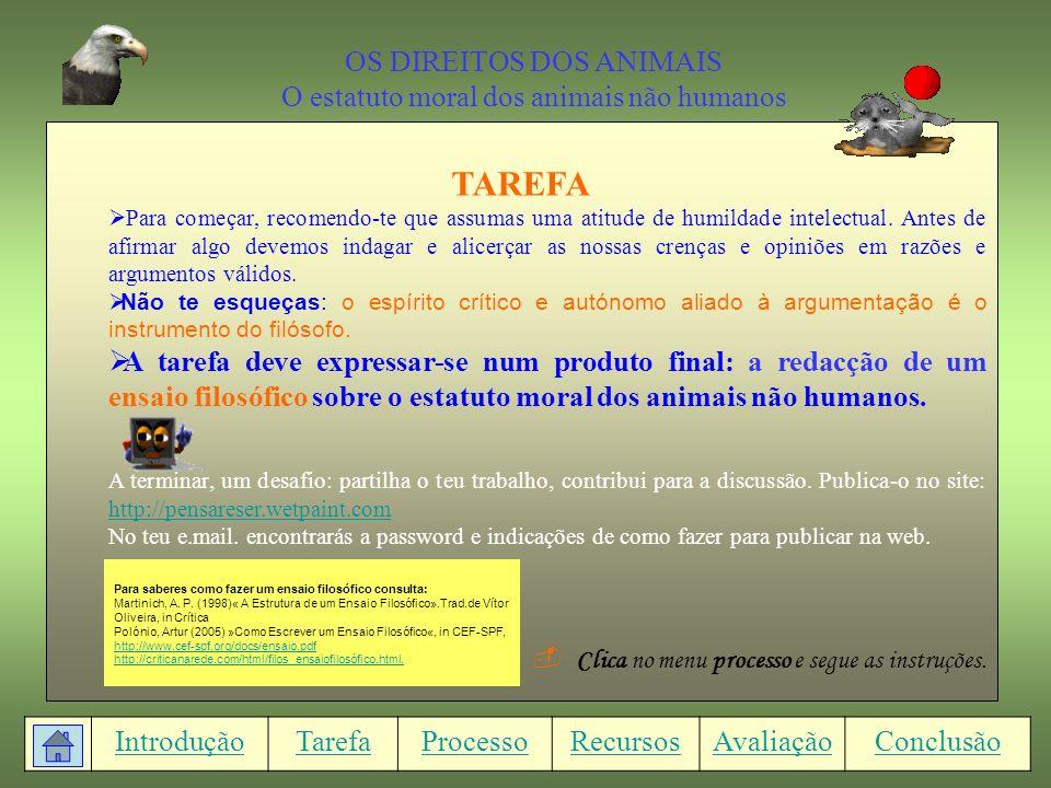 TAREFA OS DIREITOS DOS ANIMAIS