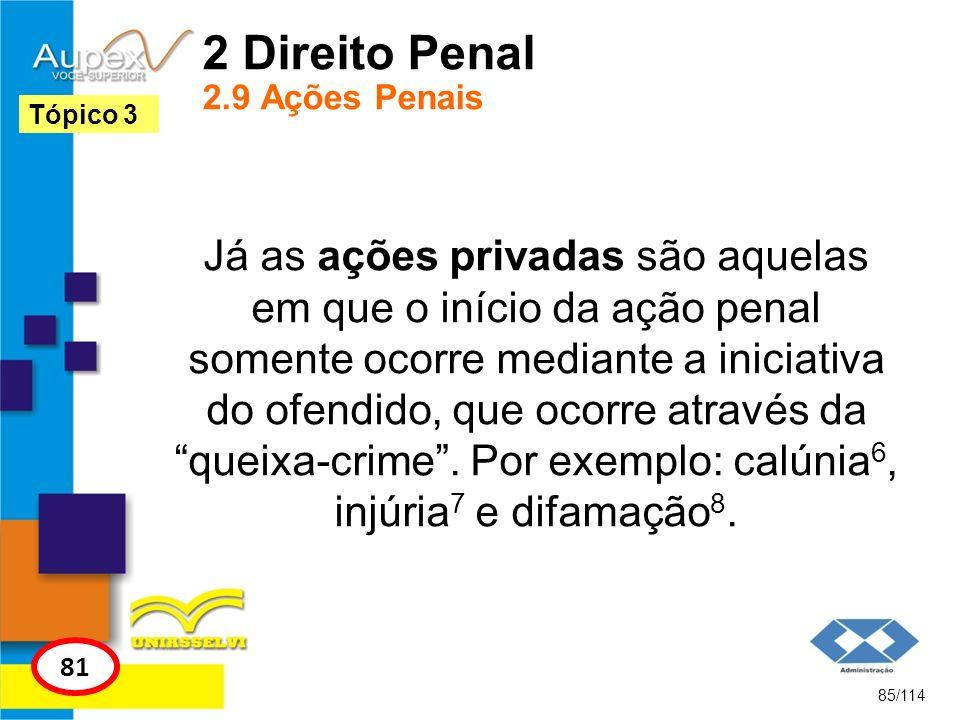 2 Direito Penal 2.9 Ações Penais