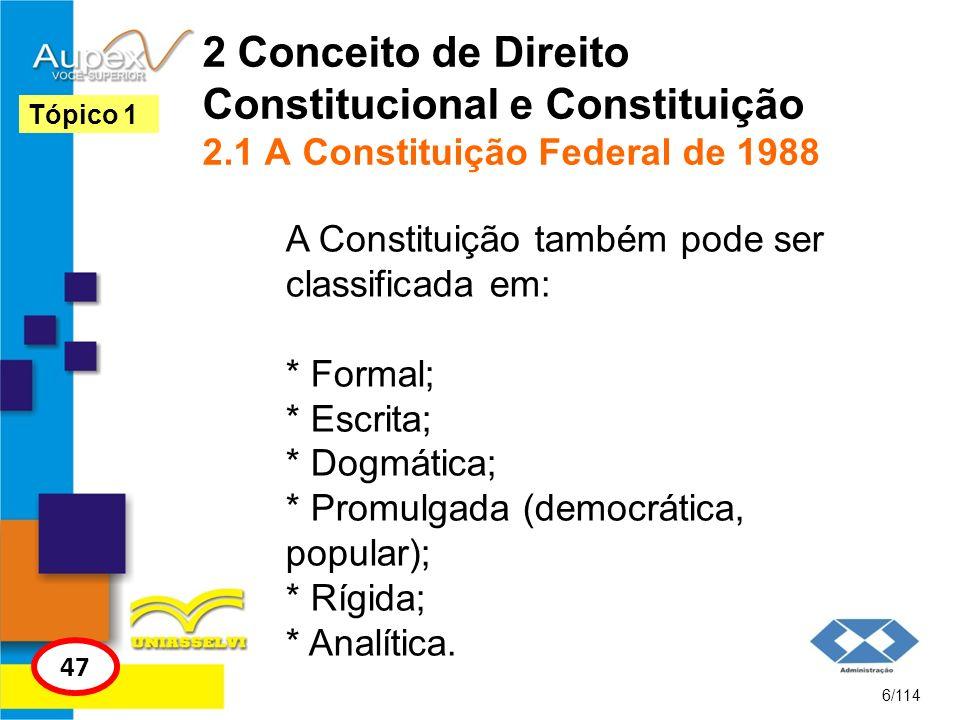 2 Conceito de Direito Constitucional e Constituição 2