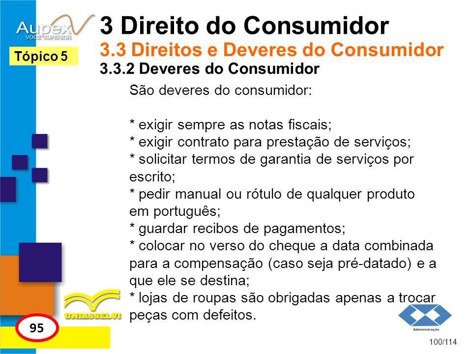 3 Direito do Consumidor 3. 3 Direitos e Deveres do Consumidor 3. 3