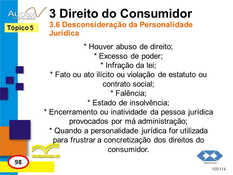 3 Direito do Consumidor 3.6 Desconsideração da Personalidade Jurídica