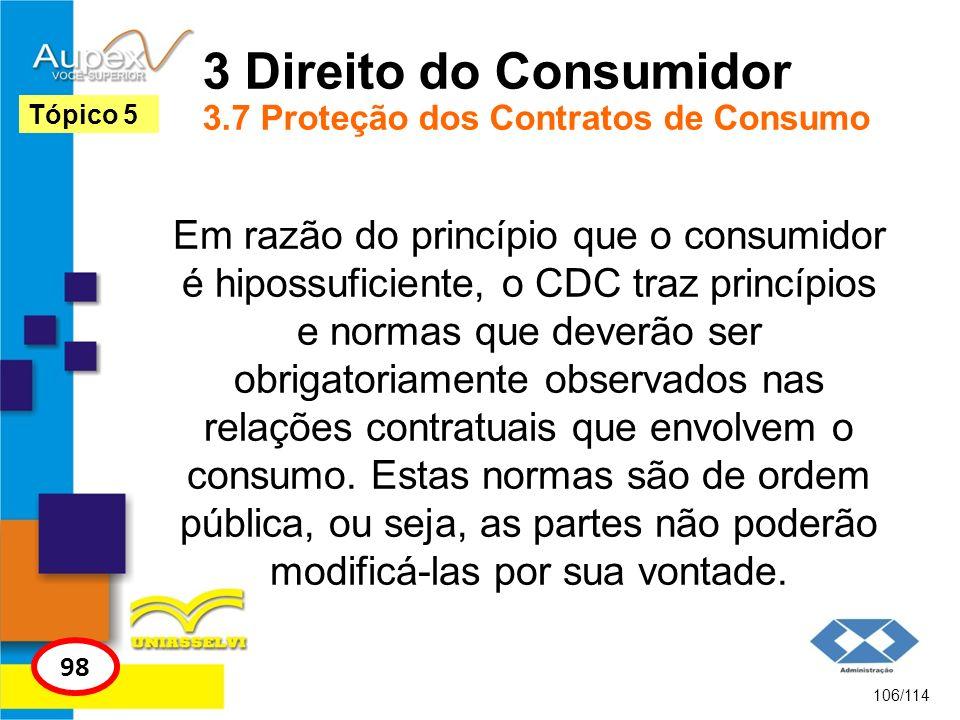 3 Direito do Consumidor 3.7 Proteção dos Contratos de Consumo