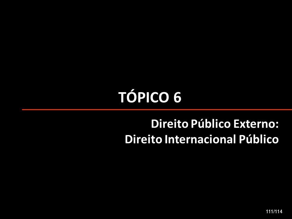 TÓPICO 6 Direito Público Externo: Direito Internacional Público