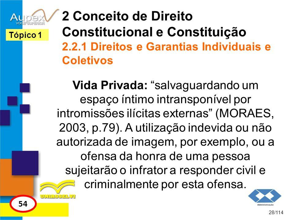2 Conceito de Direito Constitucional e Constituição 2. 2