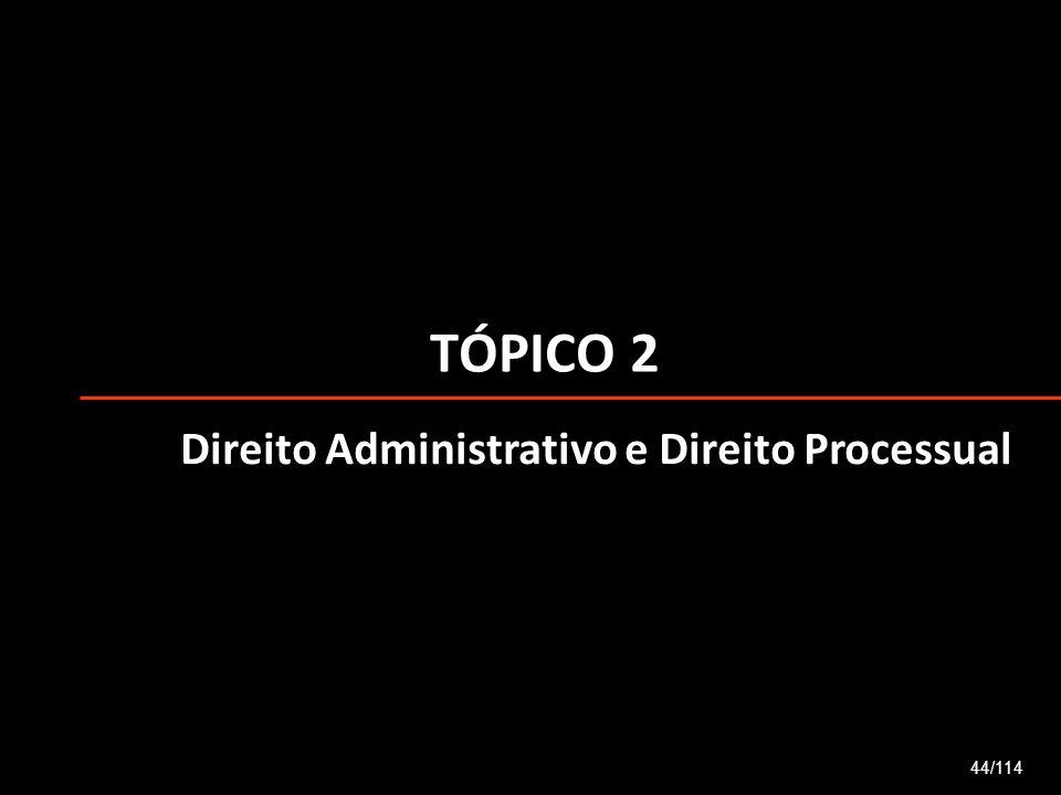 TÓPICO 2 Direito Administrativo e Direito Processual 44/114