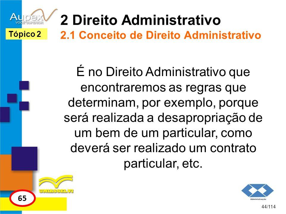 2 Direito Administrativo 2.1 Conceito de Direito Administrativo