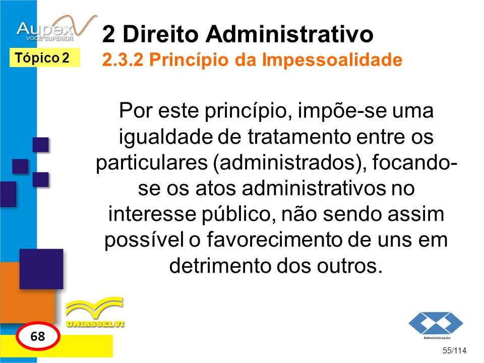 2 Direito Administrativo 2.3.2 Princípio da Impessoalidade