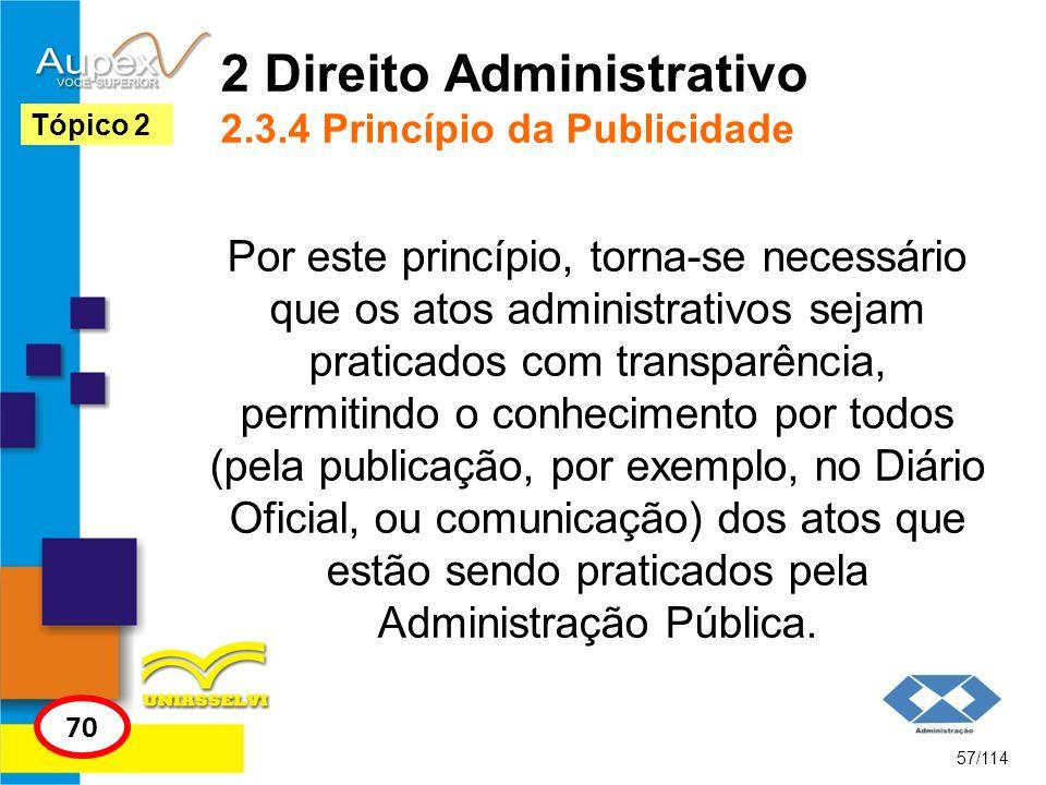 2 Direito Administrativo 2.3.4 Princípio da Publicidade