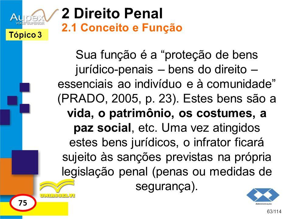 2 Direito Penal 2.1 Conceito e Função