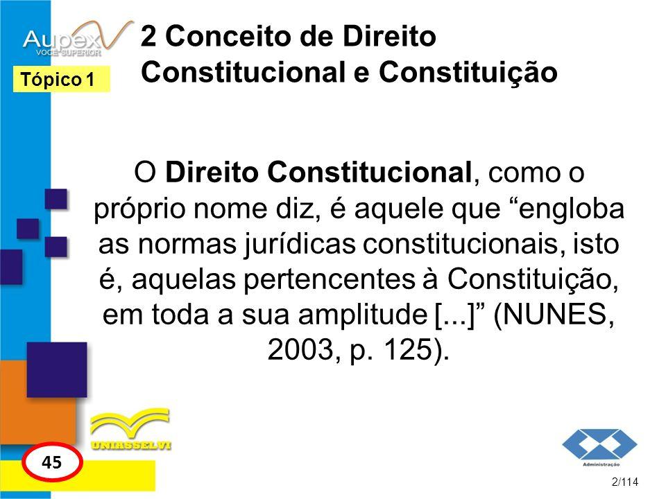 2 Conceito de Direito Constitucional e Constituição