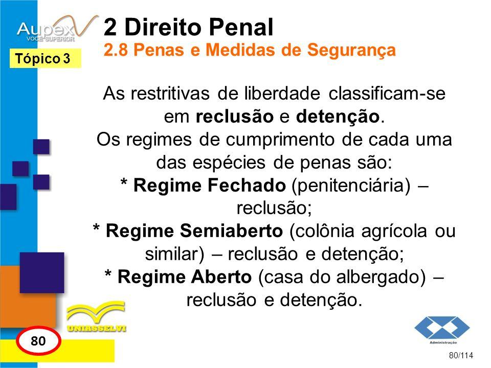 2 Direito Penal 2.8 Penas e Medidas de Segurança