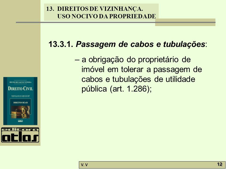 13.3.1. Passagem de cabos e tubulações: