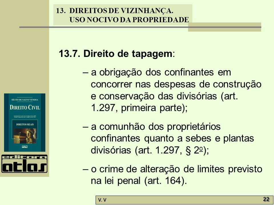 13.7. Direito de tapagem: