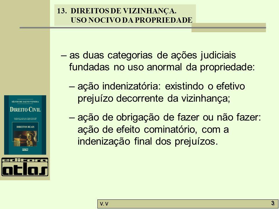 – as duas categorias de ações judiciais fundadas no uso anormal da propriedade:
