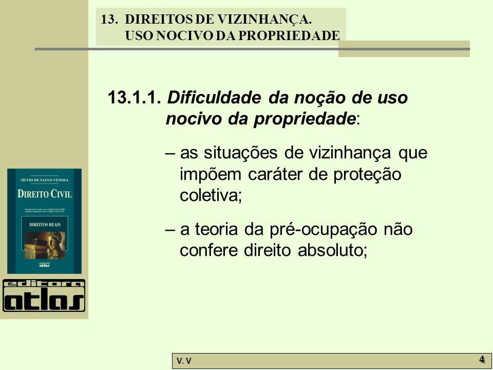 13.1.1. Dificuldade da noção de uso nocivo da propriedade: