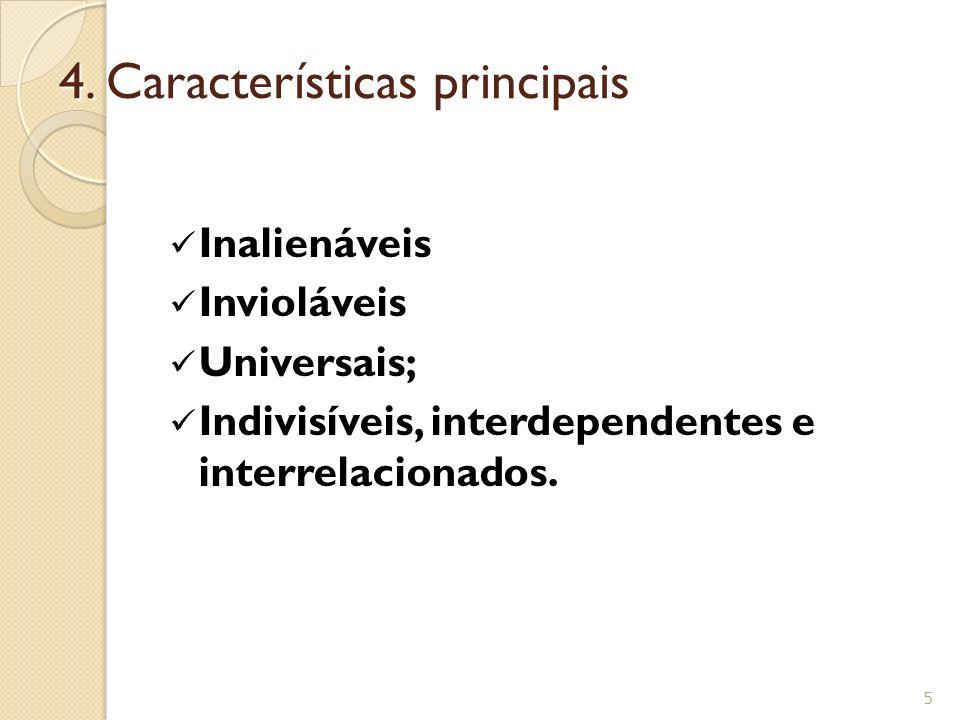 4. Características principais