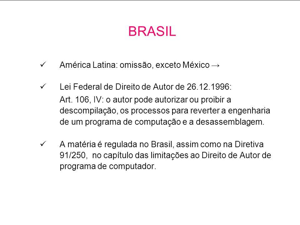 BRASIL América Latina: omissão, exceto México →