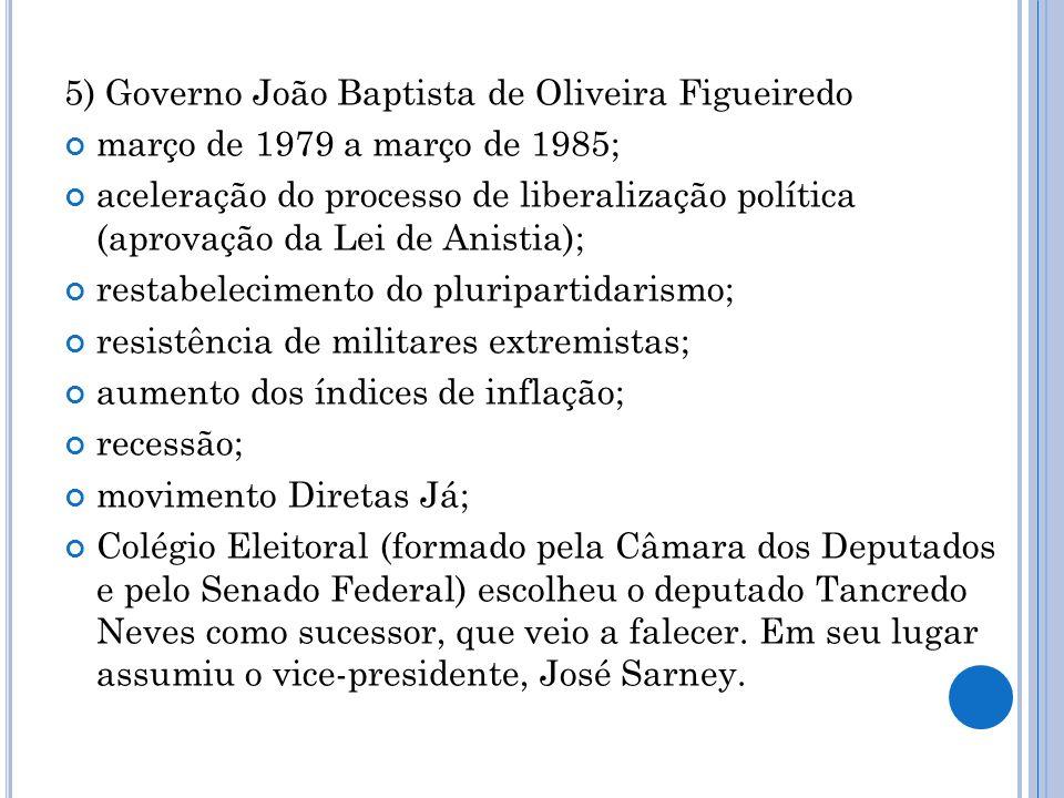 5) Governo João Baptista de Oliveira Figueiredo