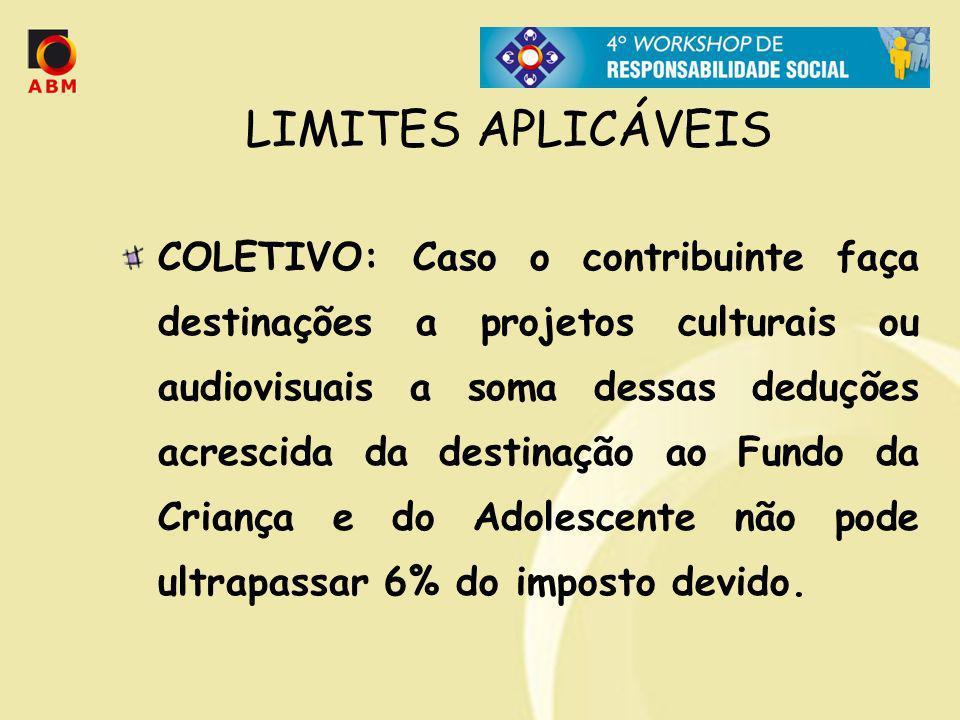 LIMITES APLICÁVEIS