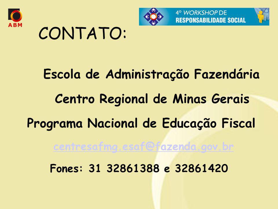 CONTATO: Escola de Administração Fazendária