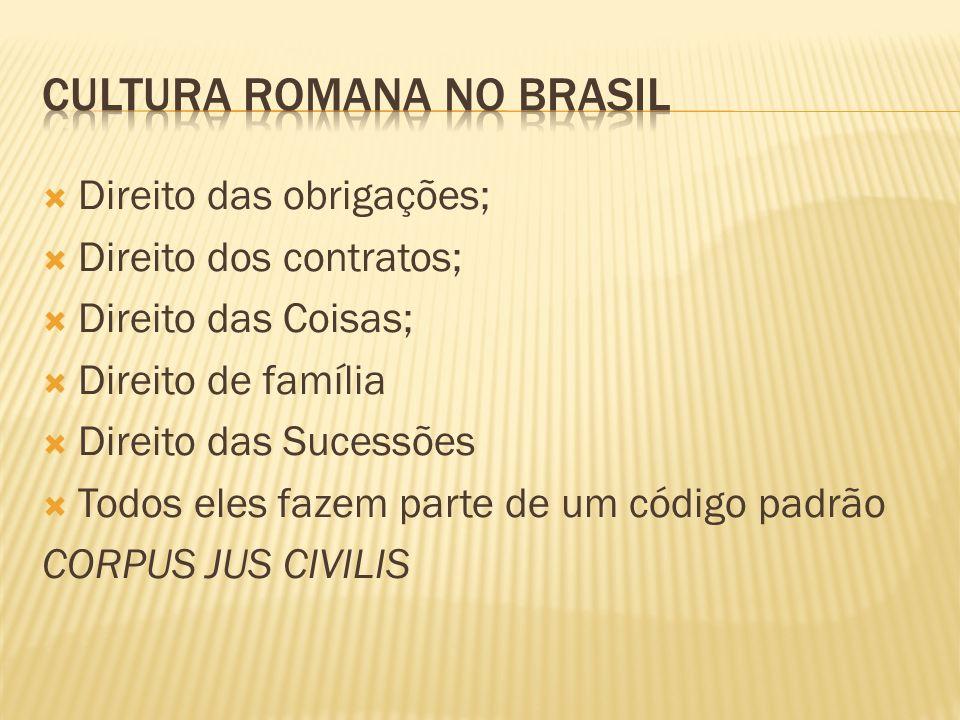 Cultura romana no brasil