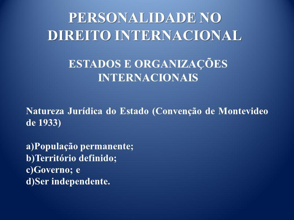 PERSONALIDADE NO DIREITO INTERNACIONAL