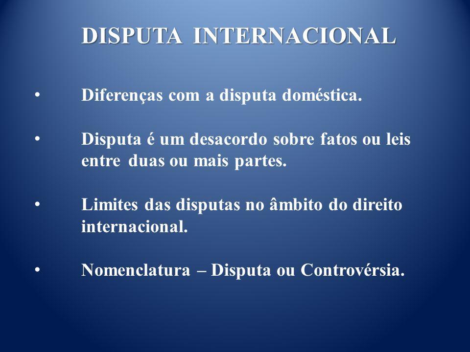DISPUTA INTERNACIONAL