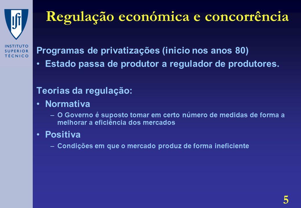 Regulação económica e concorrência