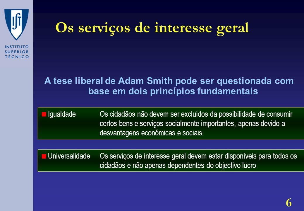 Os serviços de interesse geral