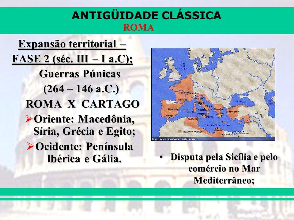 Expansão territorial – FASE 2 (séc. III – I a.C); Guerras Púnicas