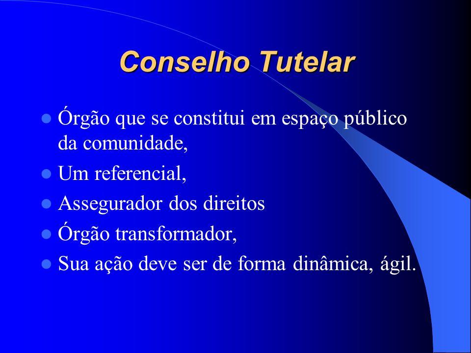 Conselho Tutelar Órgão que se constitui em espaço público da comunidade, Um referencial, Assegurador dos direitos.