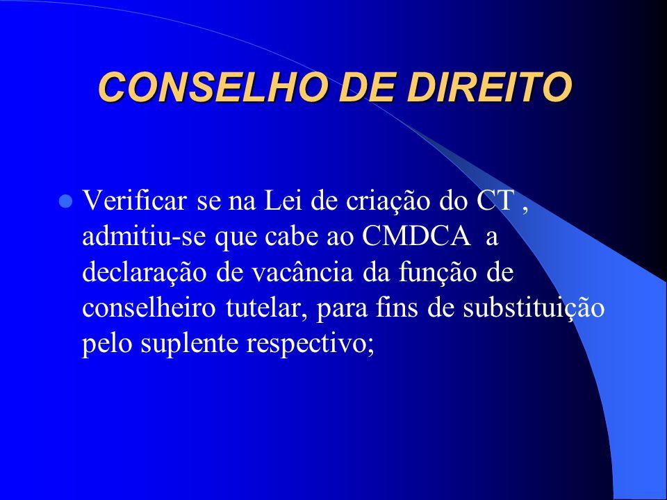 CONSELHO DE DIREITO