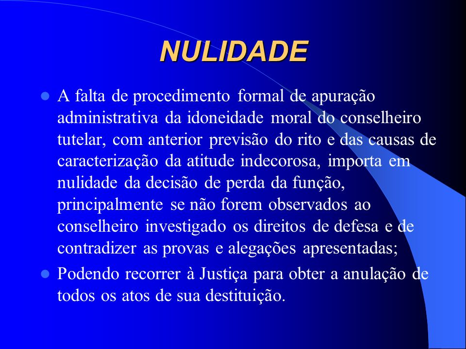 NULIDADE