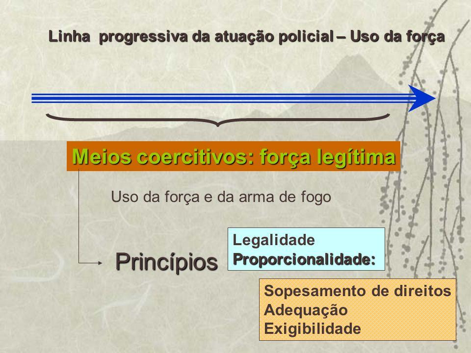 Princípios Meios coercitivos: força legítima