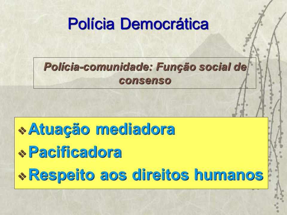 Polícia-comunidade: Função social de consenso