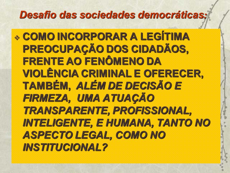 Desafio das sociedades democráticas: