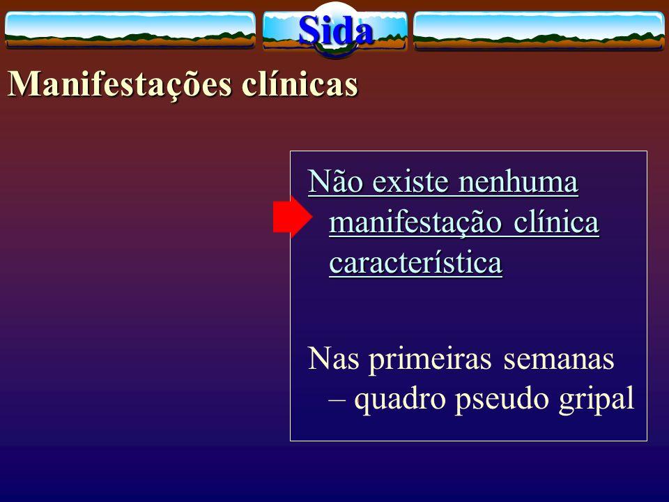 Sida Manifestações clínicas