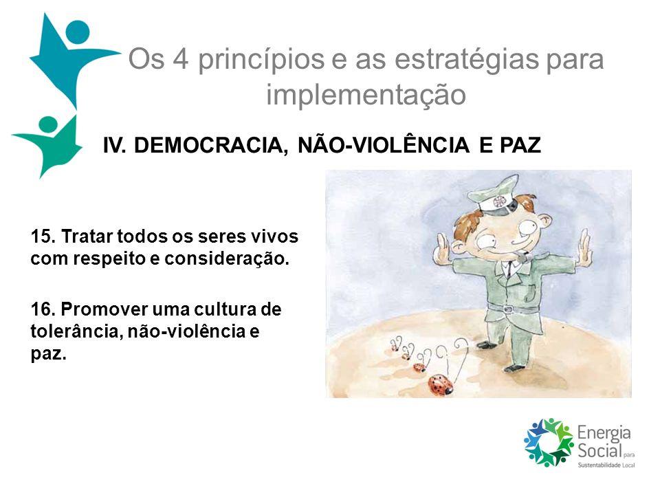 Os 4 princípios e as estratégias para implementação