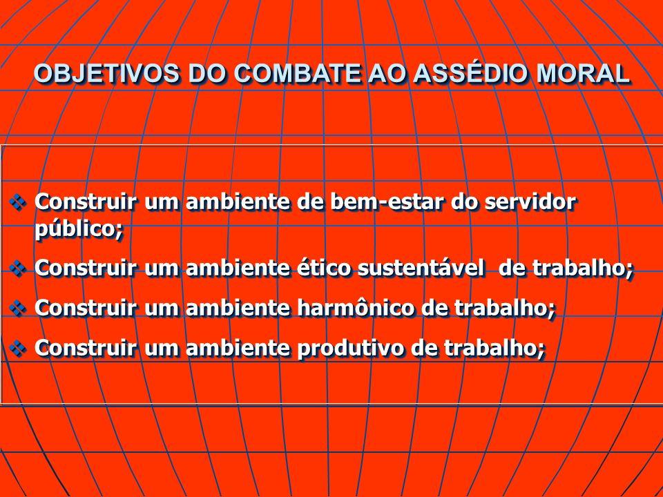 OBJETIVOS DO COMBATE AO ASSÉDIO MORAL