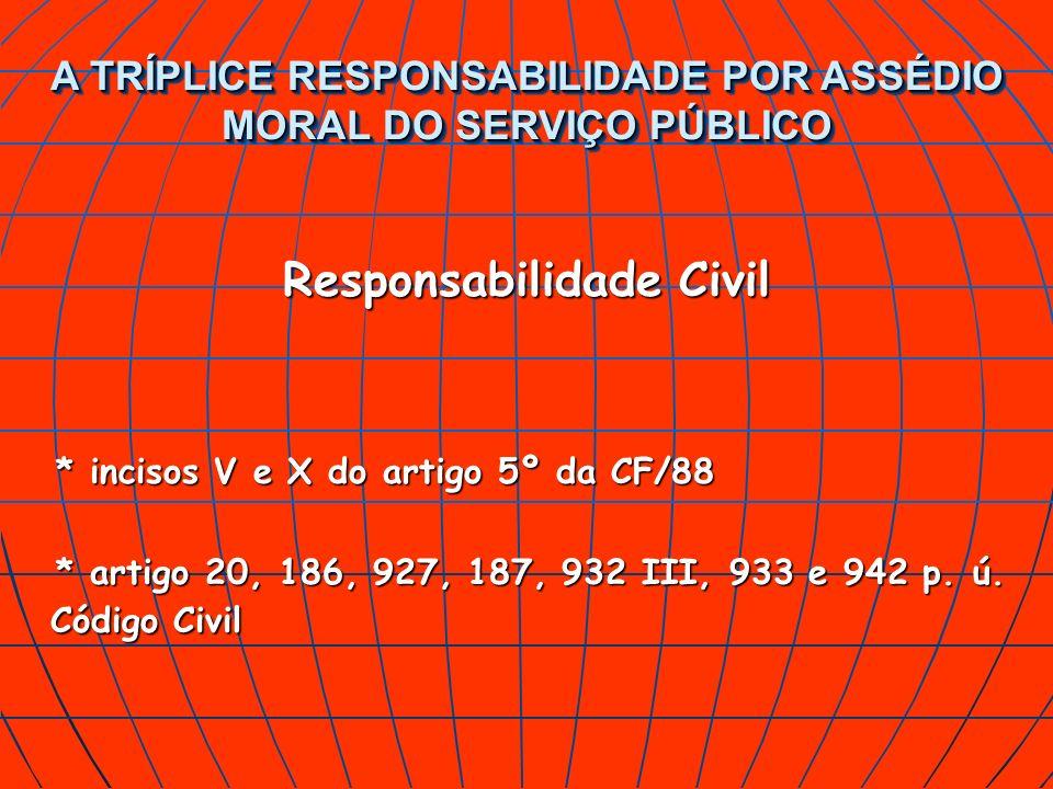 A TRÍPLICE RESPONSABILIDADE POR ASSÉDIO MORAL DO SERVIÇO PÚBLICO