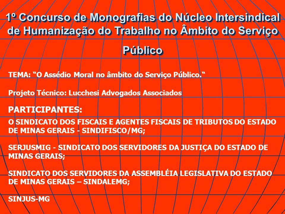 1º Concurso de Monografias do Núcleo Intersindical de Humanização do Trabalho no Âmbito do Serviço Público