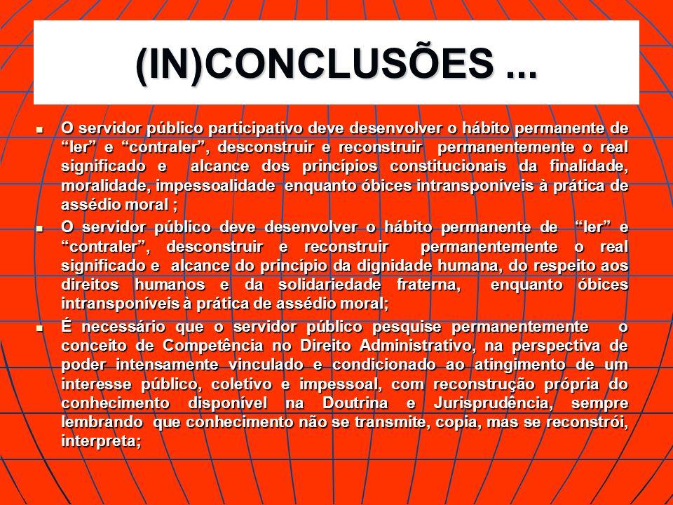 (IN)CONCLUSÕES ...