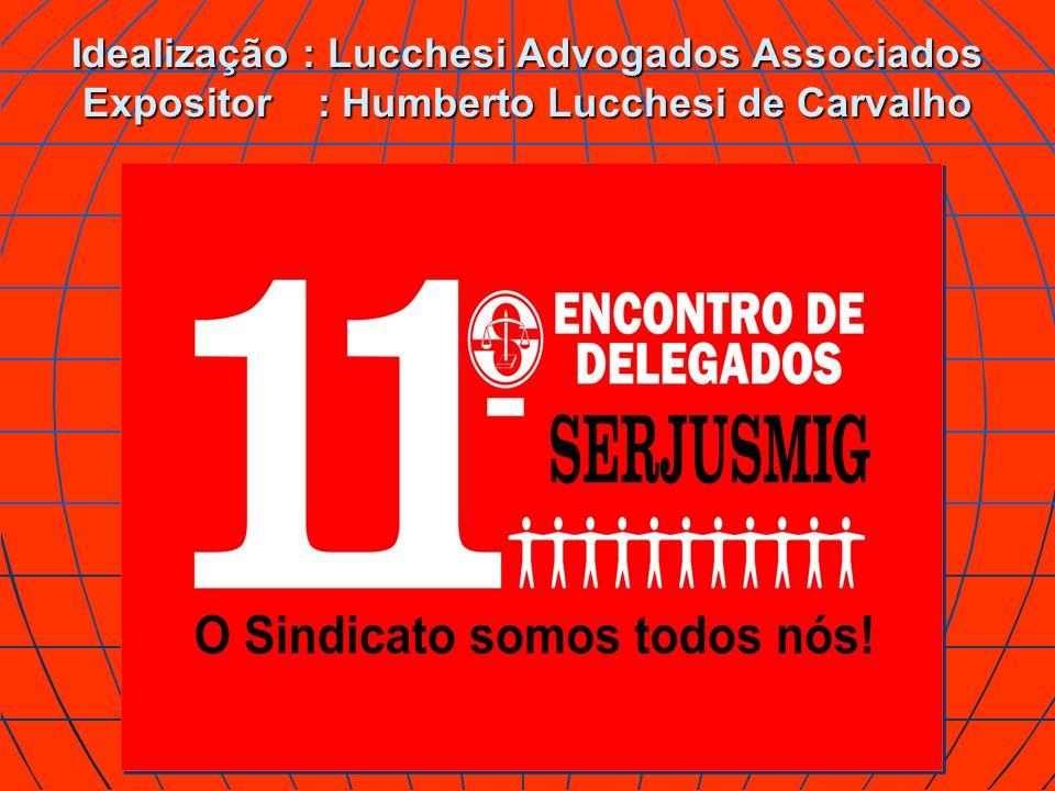 Idealização : Lucchesi Advogados Associados Expositor : Humberto Lucchesi de Carvalho
