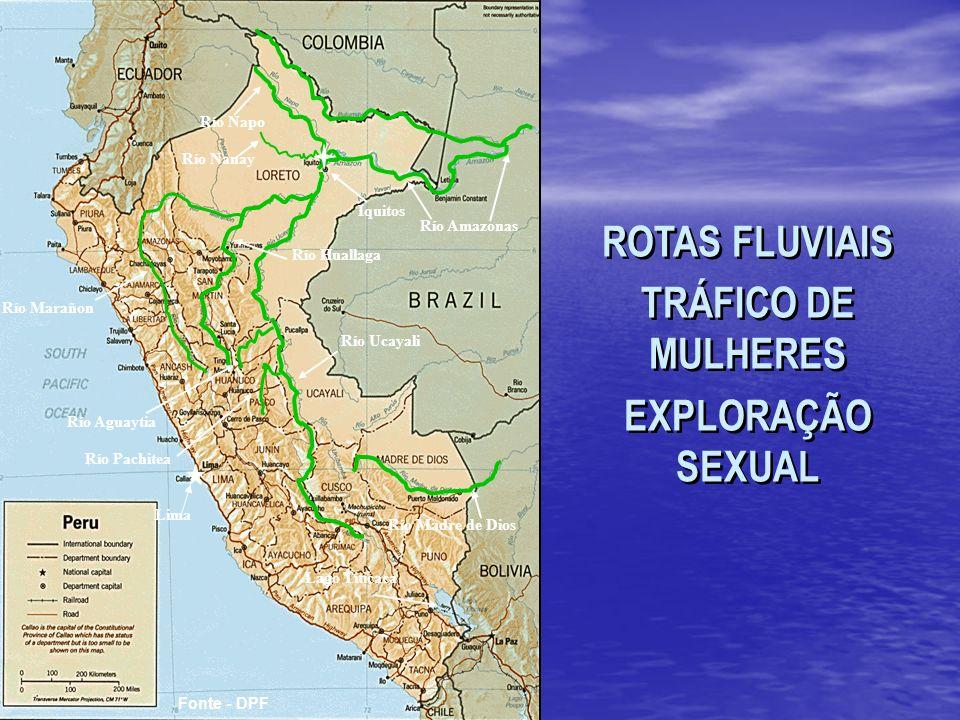 ROTAS FLUVIAIS TRÁFICO DE MULHERES EXPLORAÇÃO SEXUAL