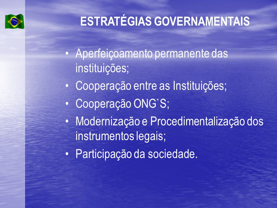 ESTRATÉGIAS GOVERNAMENTAIS