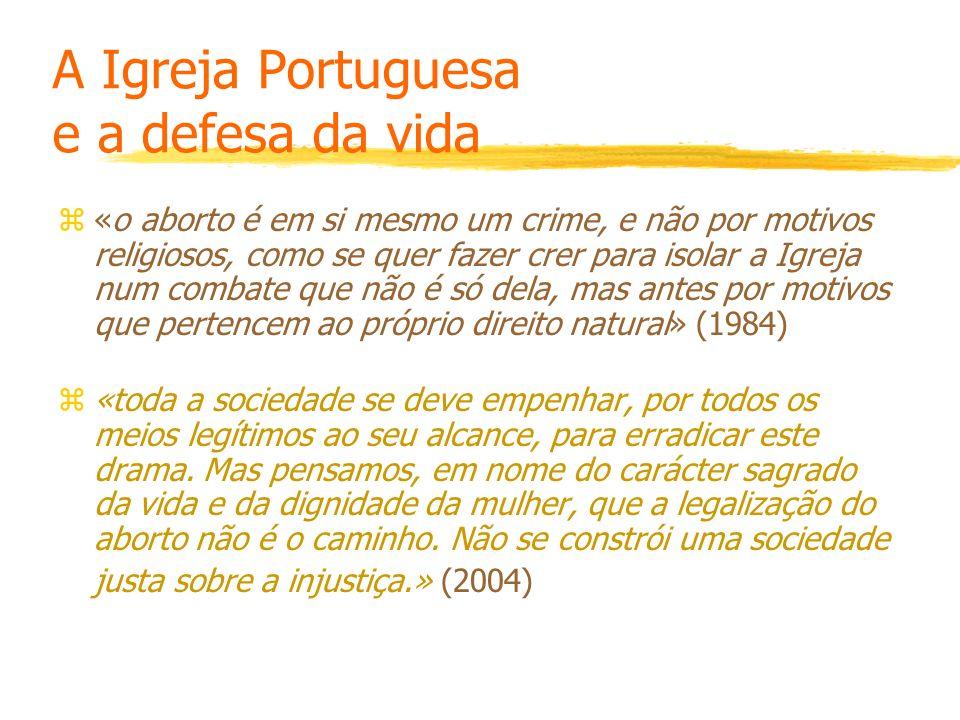 A Igreja Portuguesa e a defesa da vida