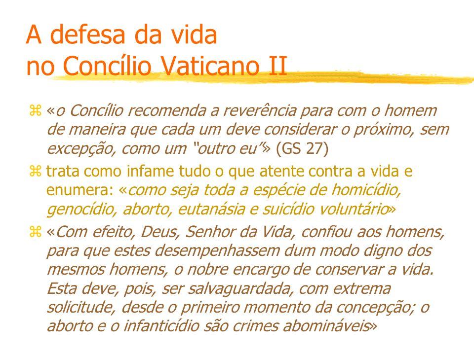 A defesa da vida no Concílio Vaticano II