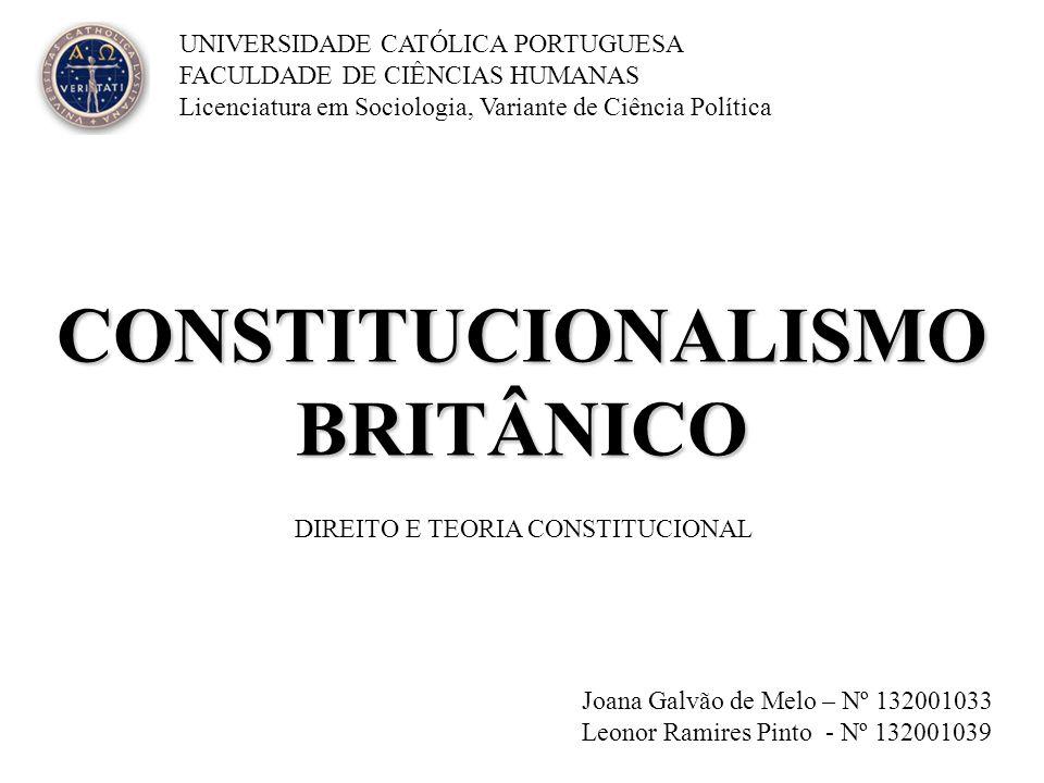 CONSTITUCIONALISMO BRITÂNICO